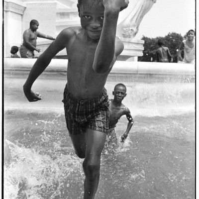 Boy in Union Station Fountain 1969